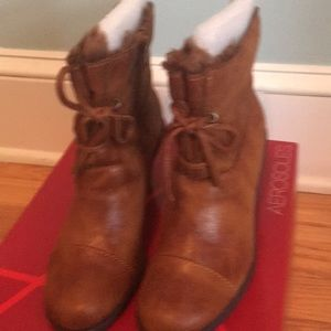 Aero soles brown boots